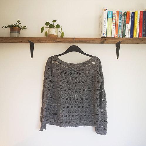 Handmade Crochet Summer Top - Linen-Bamboo Mix