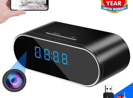 WEMLB Hidden Camera Alarm Clock
