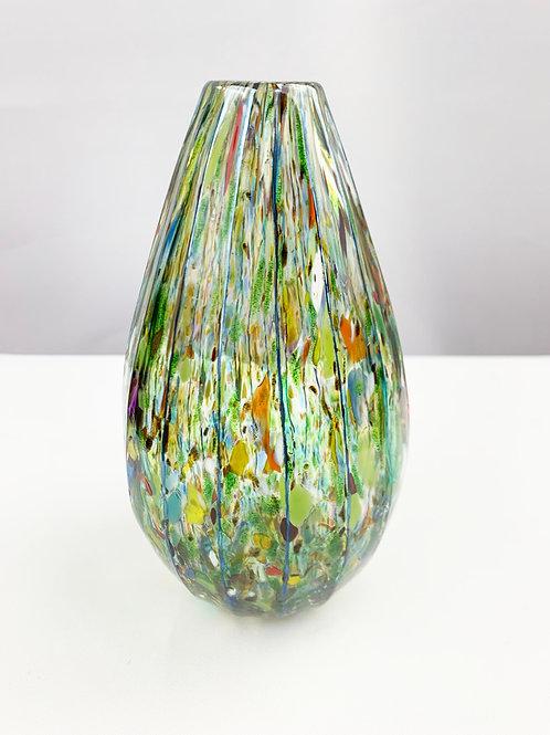 Green spot vase