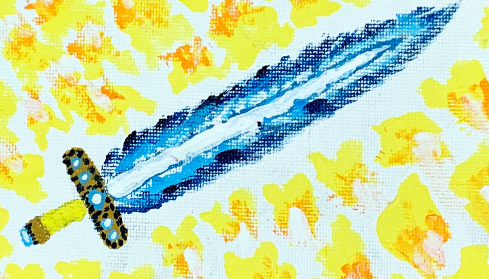 BLUE FLAME SWORD