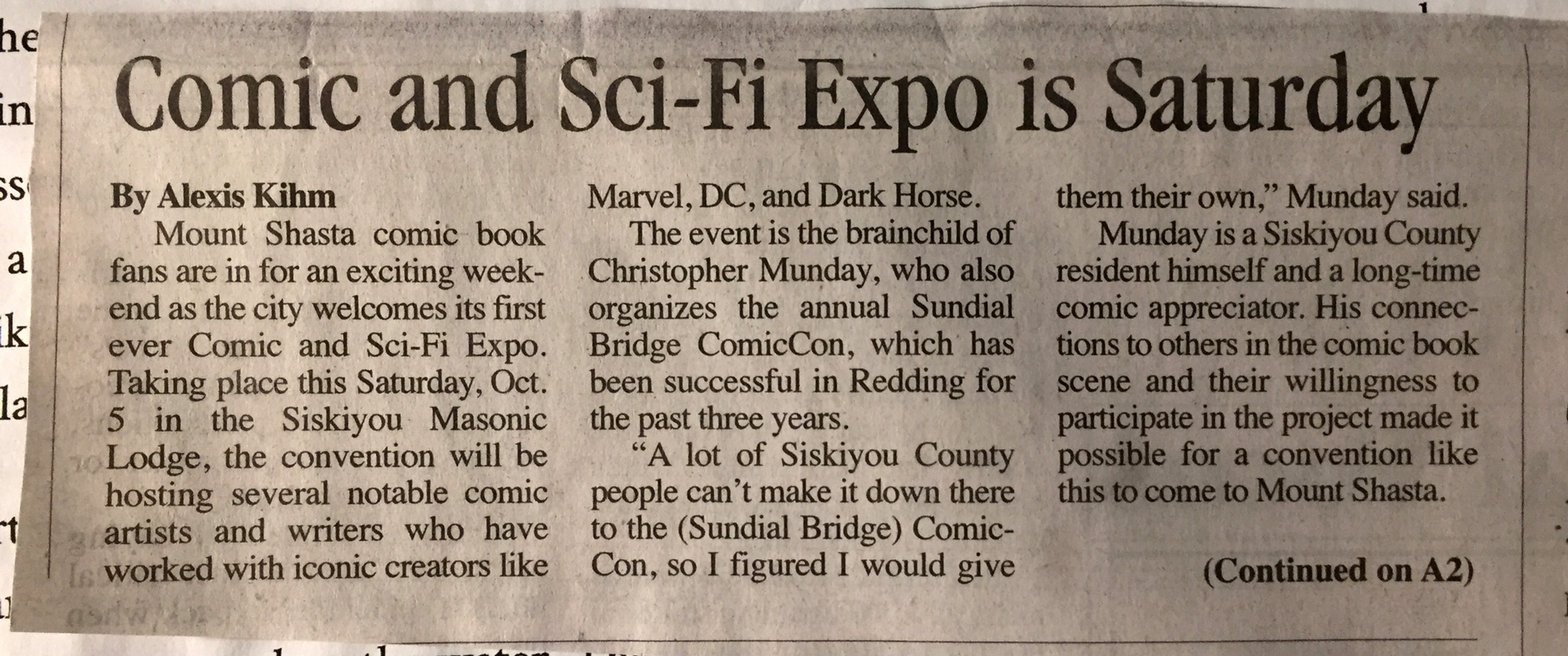 Comic and Sci-Fi Expo