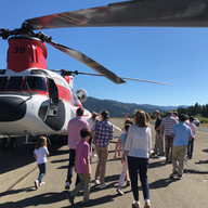 Fire Crew Helicopter visit