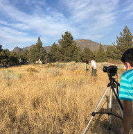 Shooting on set with horses