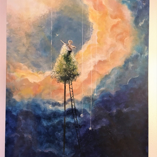 Large Painting by Cate Murphy, 12