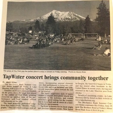TapWater concert brings community together