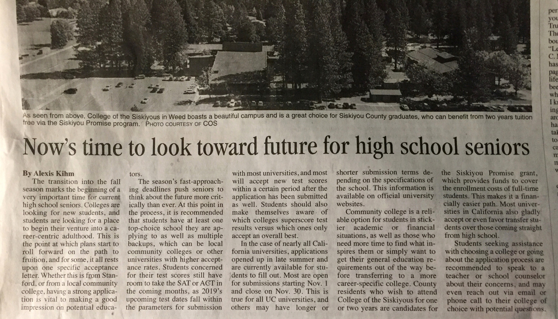 It's time to look towards future for high school seniors