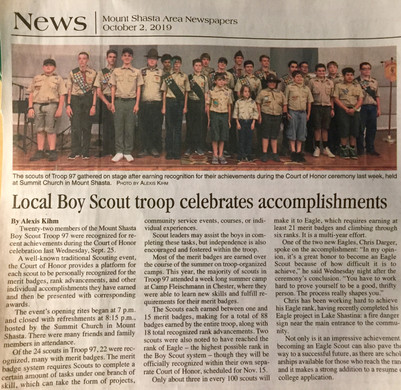 Local Boy Scout troop celebrates accomplishments