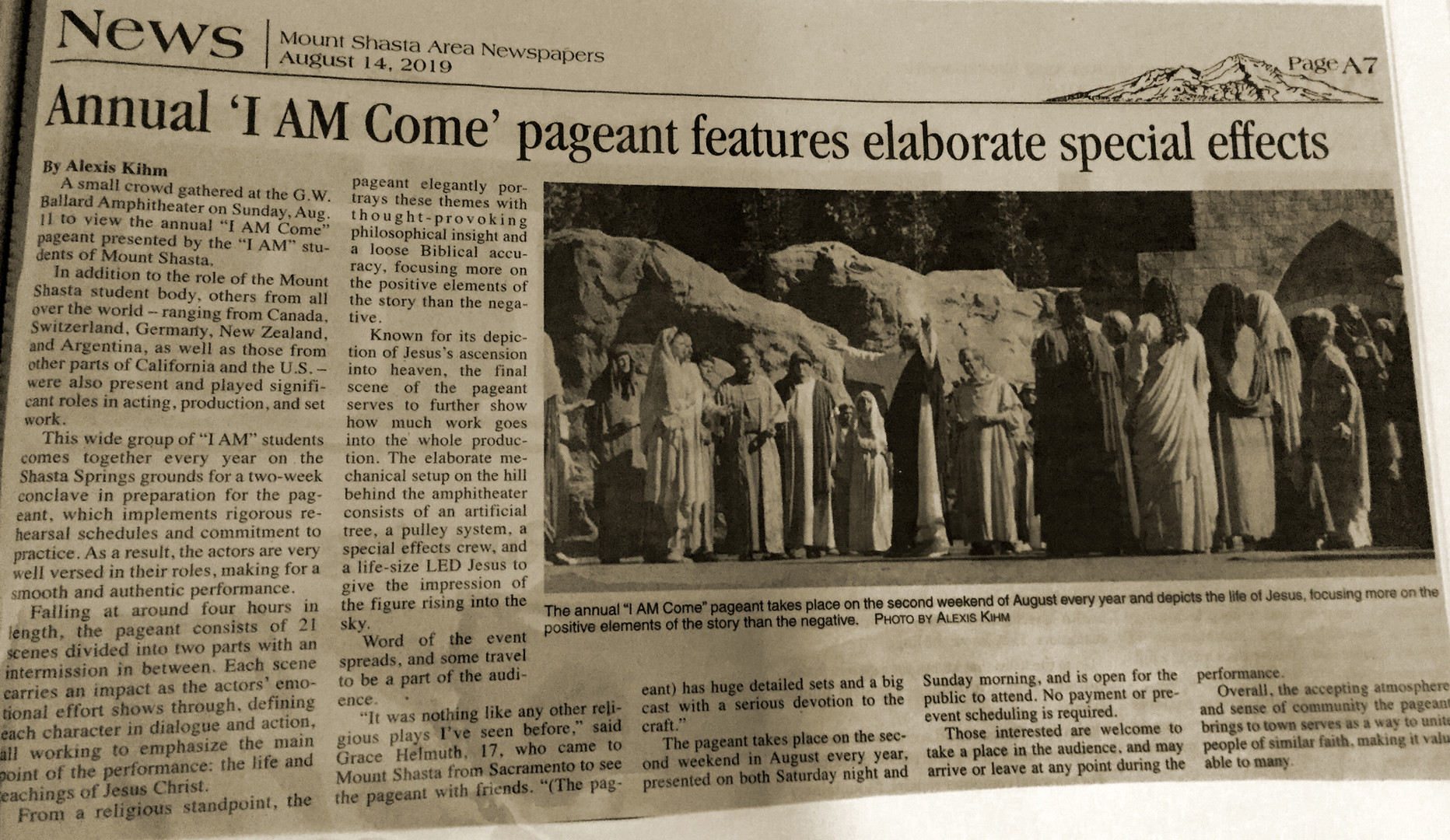 Annual 'I AM Come' pageant features elaborate special effects