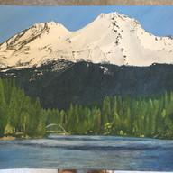 Mount Shasta, Casein on Paper