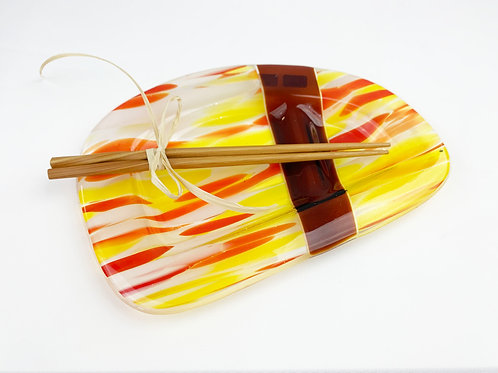 Orange Yellow Sushi Platter