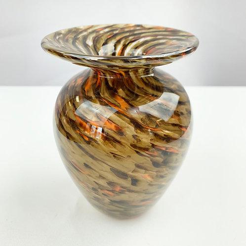 Chocolate Swirl Small Vase