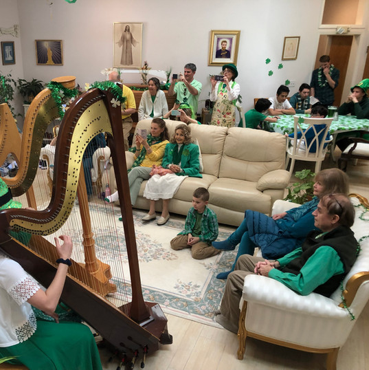 Harp Ensemble for St Patrick's Day