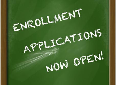 Accepting Enrollment Applications for 2020/21 School Year