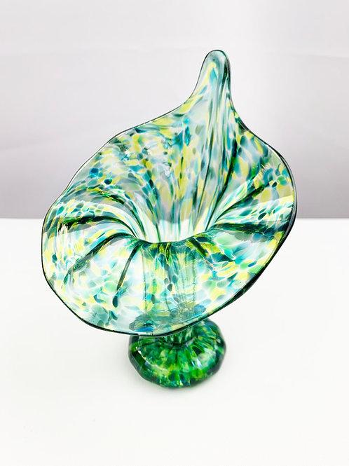 Green Yellow small vase