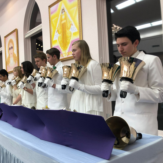 "Bell Choir at the ""I AM"" Temple"