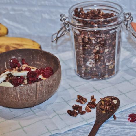 Chocolate & Coconut Granola (Gluten Free)