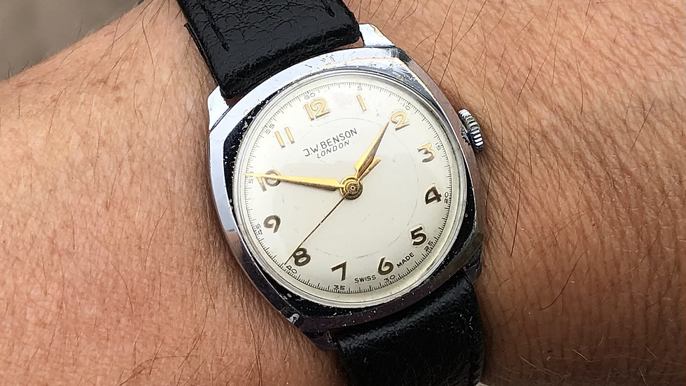 J W Benson 1962 Cushion Watch