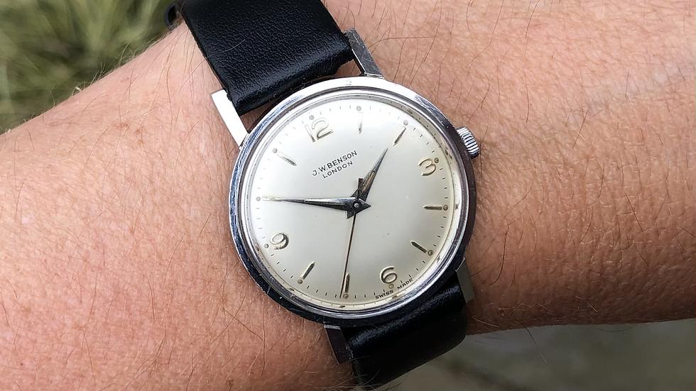 J W Benson 1961 Watch with box