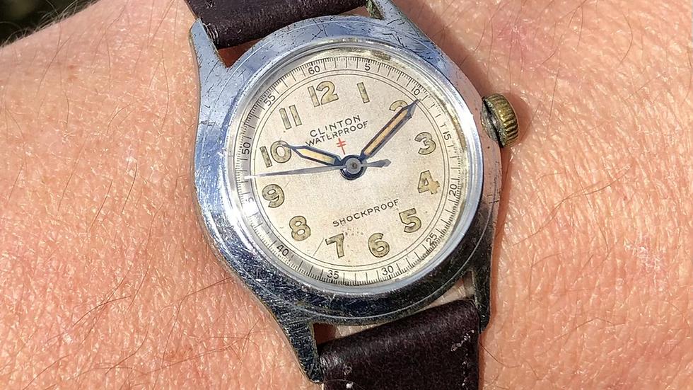 Clinton 1950s Waterproof Military Style Watch