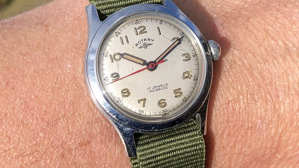 Rotary 1950s Military Style Watch