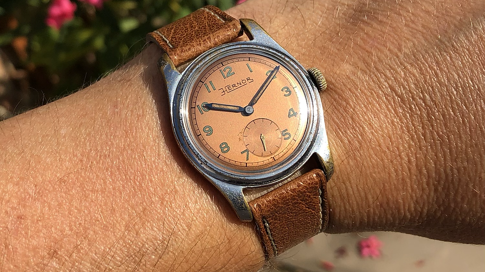Hernor 1950s Military Style Watch