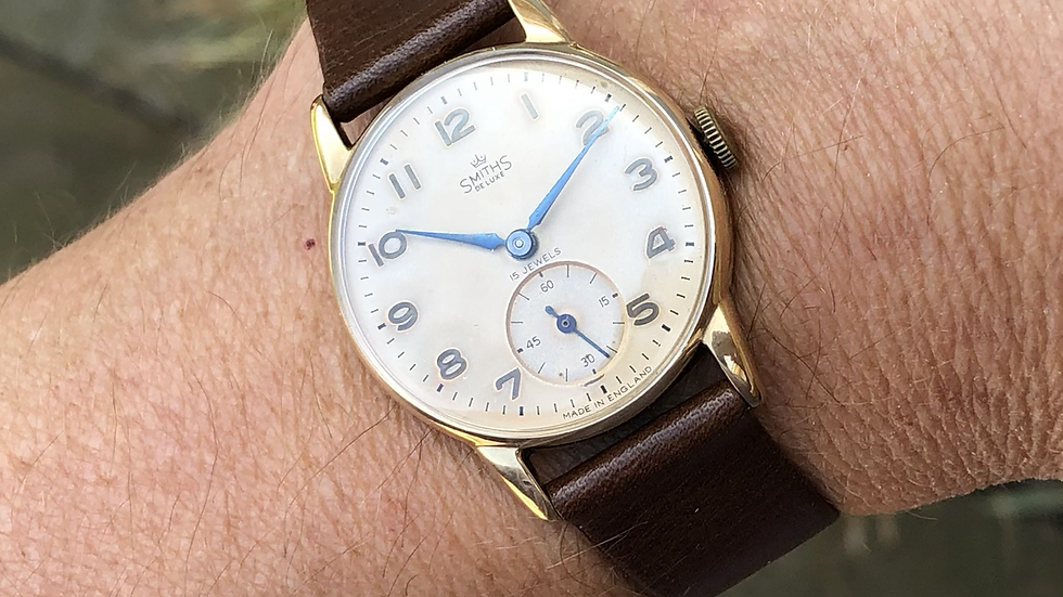 Smiths Deluxe 1957 9ct Gold British Railways Watch