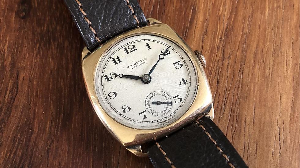 J W Benson 1942 9ct Gold Watch