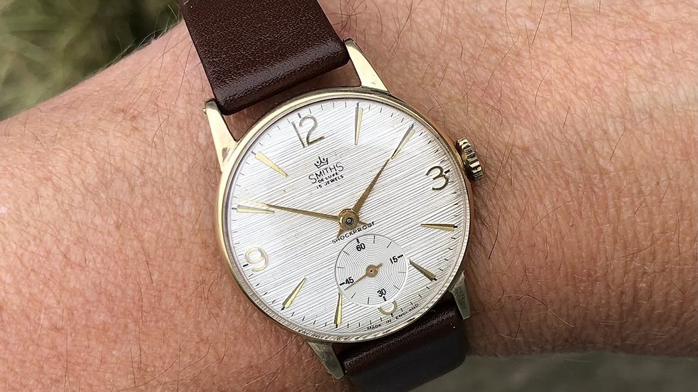 Smiths Deluxe 1966 9ct Gold BR Presentation Watch