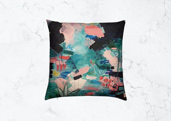 Velvet Cushion, Flourishing is Living