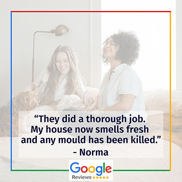 A family and their five star Google Review for a Pure Maintenance UK mould remediation