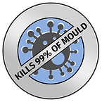 Badge indicating that Pure Maintenance's specialist mould treatment eradicates 99% of mould
