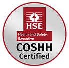 A Health and Safety Executive Badge for Pure Maintenance - COSHH certified