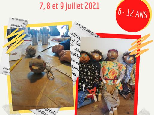 Stage Marionnettes 6-12 ans 7, 8 et 9 juillet 2021