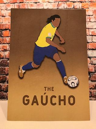 Ronaldinho 'The Gaucho' A4 Print