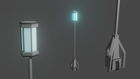 Sci-Fi Lamp Standing