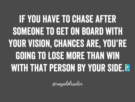 Freestyle Friday Quotes | If You Have To Chase Someone To Get Onboard With Your Vision | HAY Online