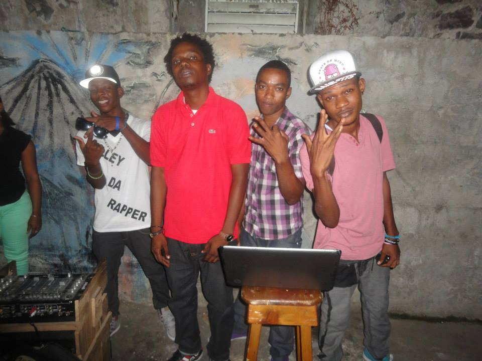 Team Tet Chaje with Walley TheRapper Haitian Culture in Dominica.jpg