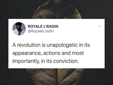 HAY Online Quotes | Revolution is Unapologetic | Royale L'radin Speaks