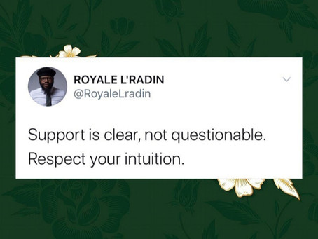 Royale L'radin Speaks | Support Is Clear | HAY Online Quotes