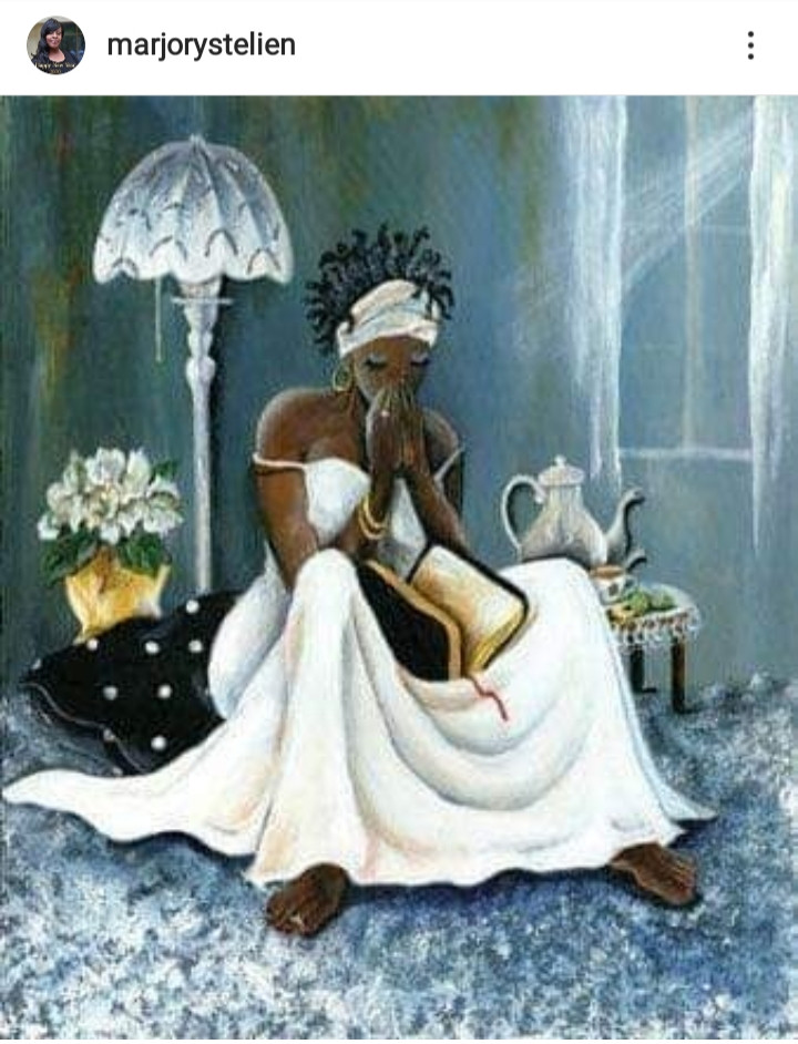 Marjory St. Elien Messages - Praying Woman
