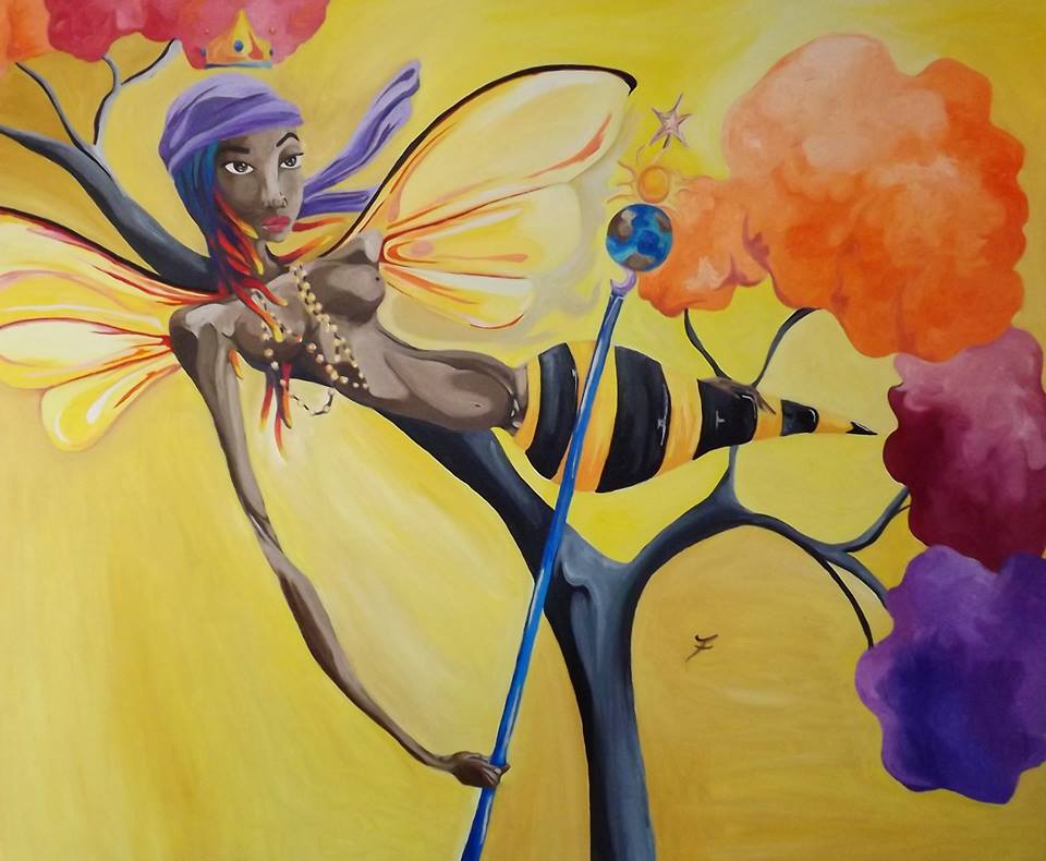 Oshun - Orisha of Love Oil on Canvas by JaFleu.jpg
