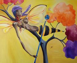 Oshun - Orisha of Love Oil on Canvas