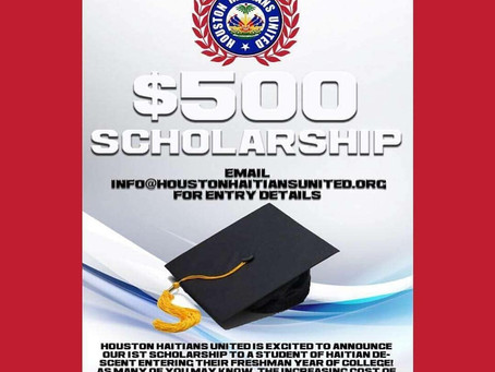 HAY Online College Corner: Houston Haitians United Announces 1st Scholarship