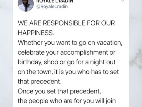 Royale L'radin Speaks | You Are Responsible For Your Happiness | HAY Online Quotes