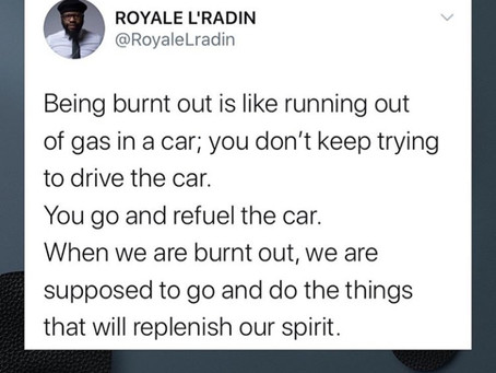 Royale L'radin Speaks | Being Burnt Out | HAY Online Quotes