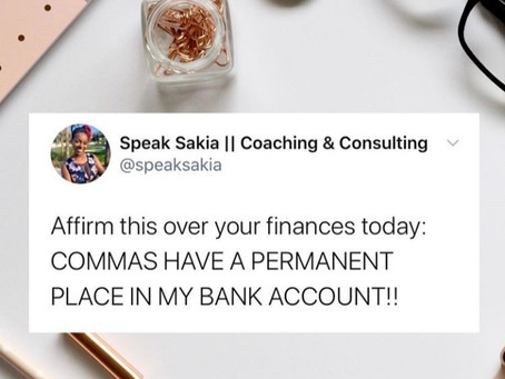 Speak Sakia | Commas Have A Permanent Place In My Bank Account | HAY Online Financials