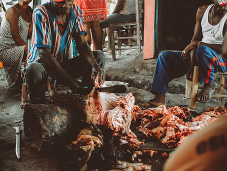 This Is Haiti HAY Online: Butchered Offerings Shared After a Voudou(Voodoo) Ceremony in Les Cayes