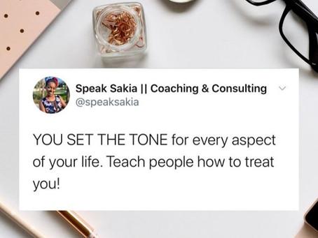Speak Sakia | You Set The Tone | HAY Online Quotes