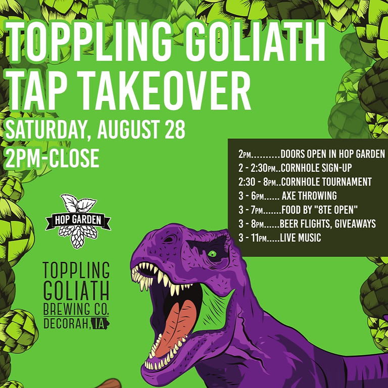 The Hop Garden Presents: Toppling Goliath Tap Takeover