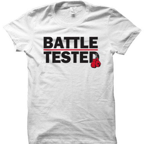 Battle Tested White Orig. Boxing T-Shirt
